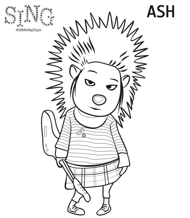 640x734 Top Sing Movie Coloring Pages Sing Movie, Movie And Birthdays