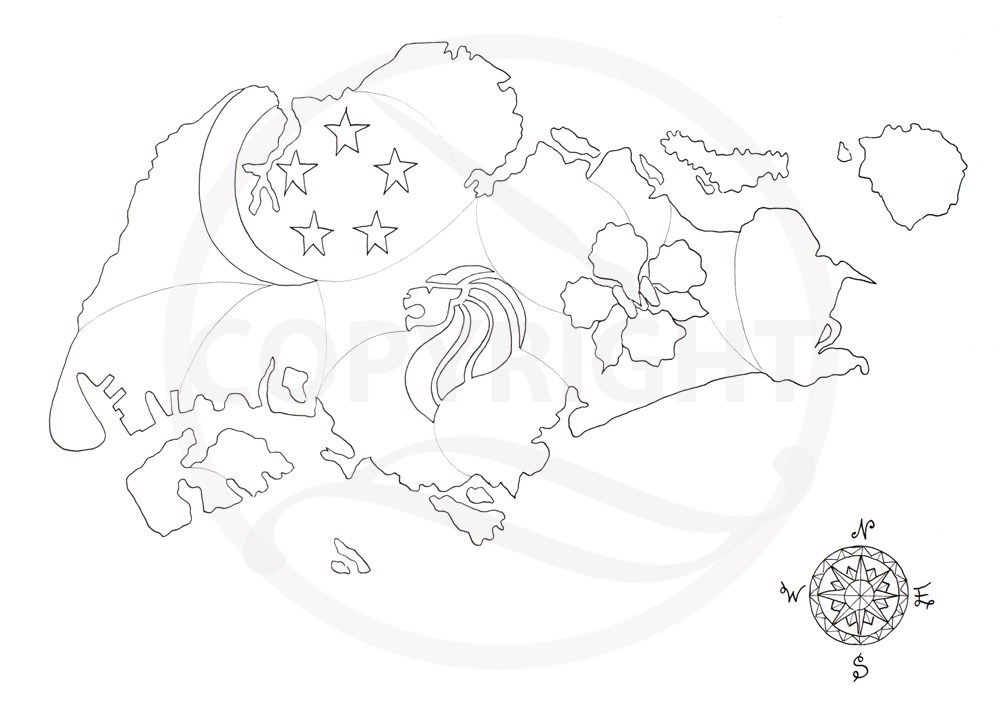 1000x707 Singapore Merlion Coloring Pages