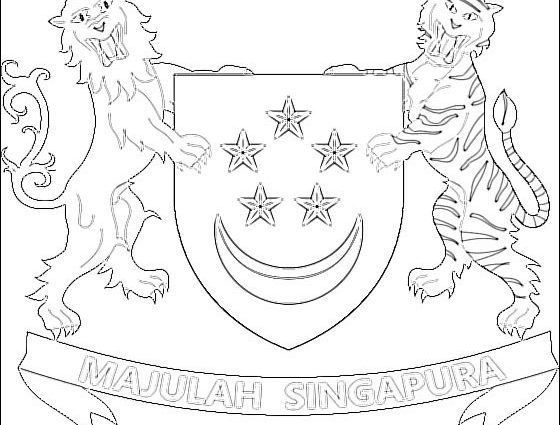560x425 Coat Of Arms Coloring Pages Free Singapore Coat Of Arms Coloring