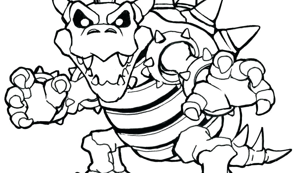 1024x600 Coloring Dry Bowser Coloring Pages