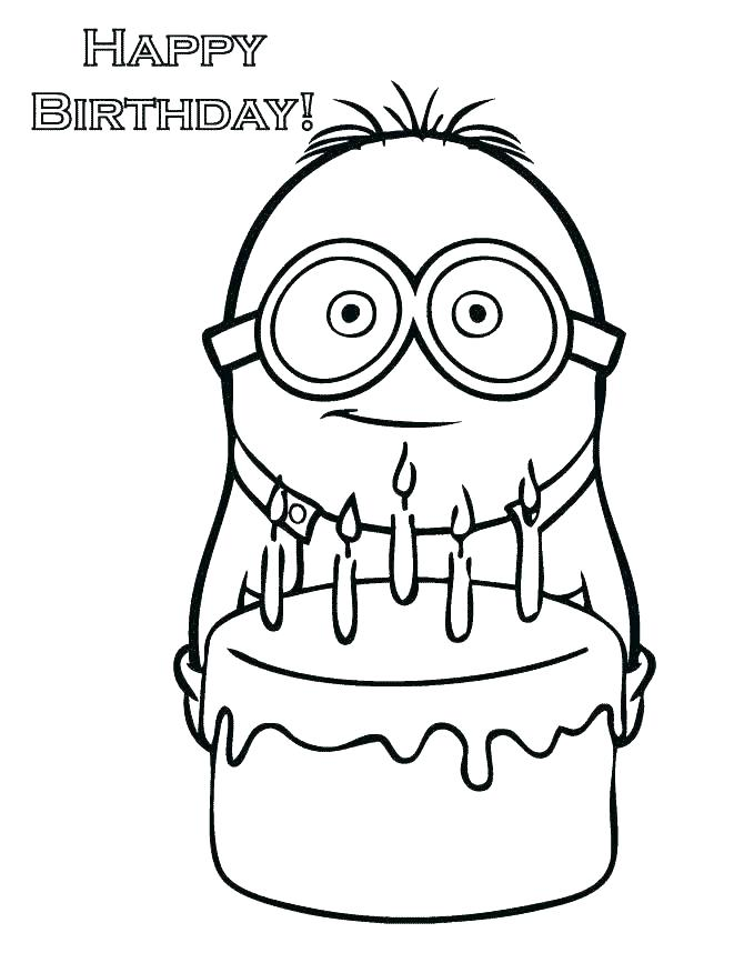 670x867 Coloring Happy Birthday Coloring Pages For Kids Free To Print