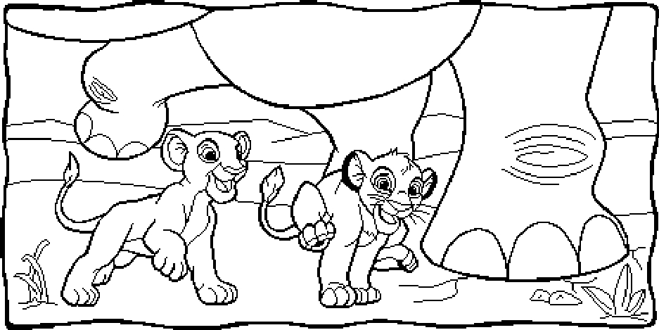 937x469 Lion King Simba Coloring Pages Free Printable For Kids To Download