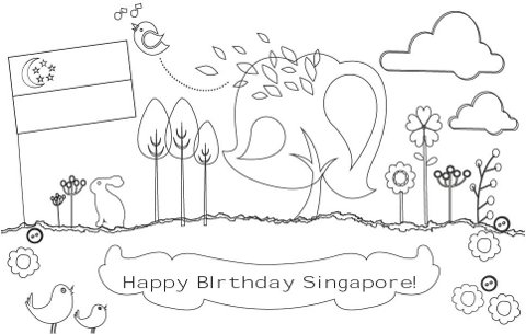 480x305 Singapore Coloring Pages Happy Willow Loves Singapore National Day