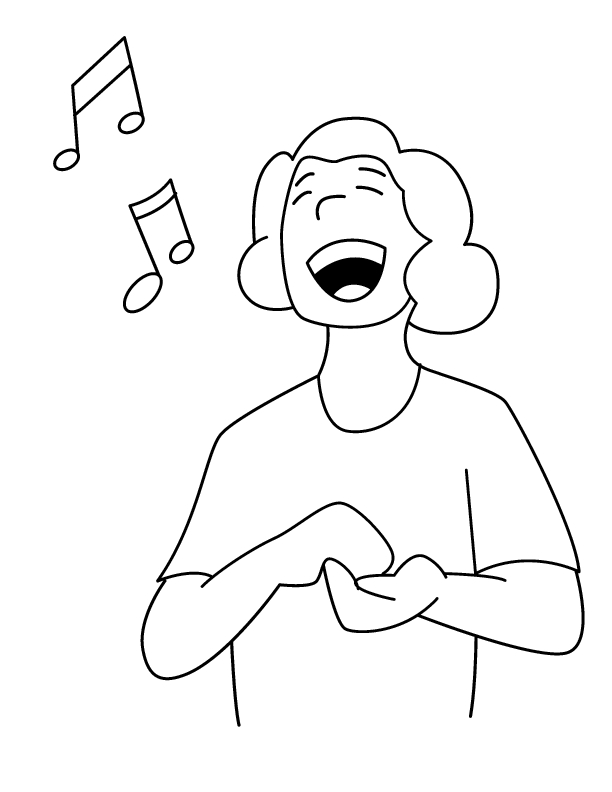 612x792 Fancy Singer Coloring Pages Sketch