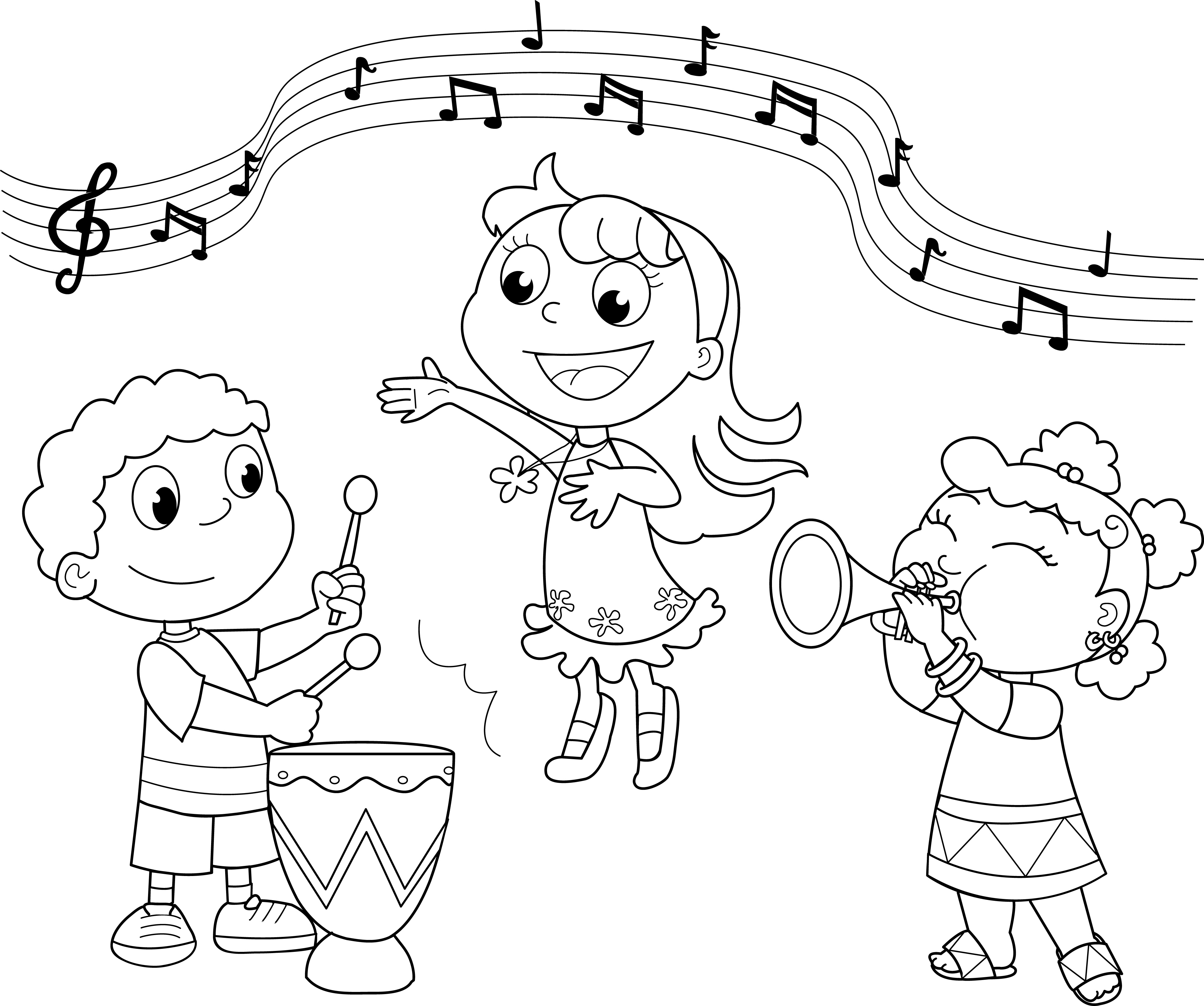 3935x3289 Musical Fun Coloring Page School Activities And School