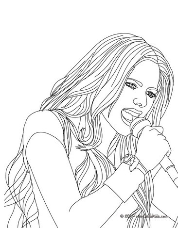 366x470 Avril Lavigne Singing Coloring Pages