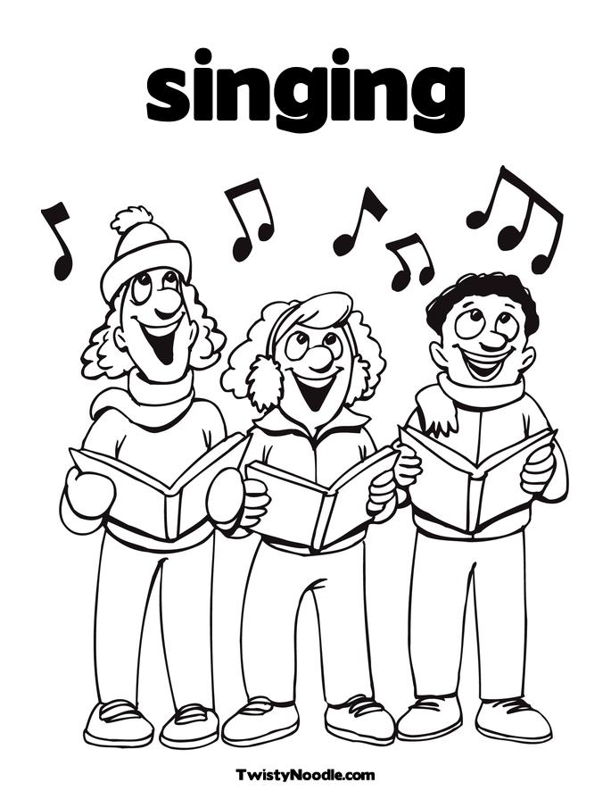 685x886 Coloring Pages For Kids Singing Coloring Pages
