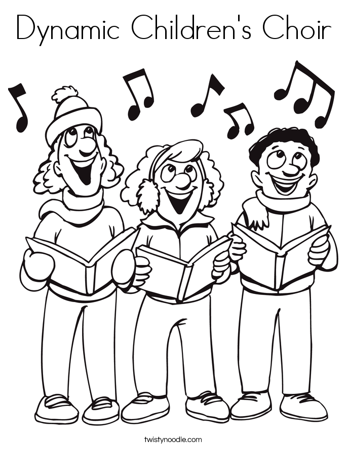 685x886 Dynamic Children's Choir Coloring Page
