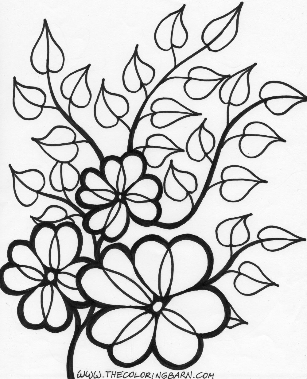 1000x1235 Single Flower Coloring Pages