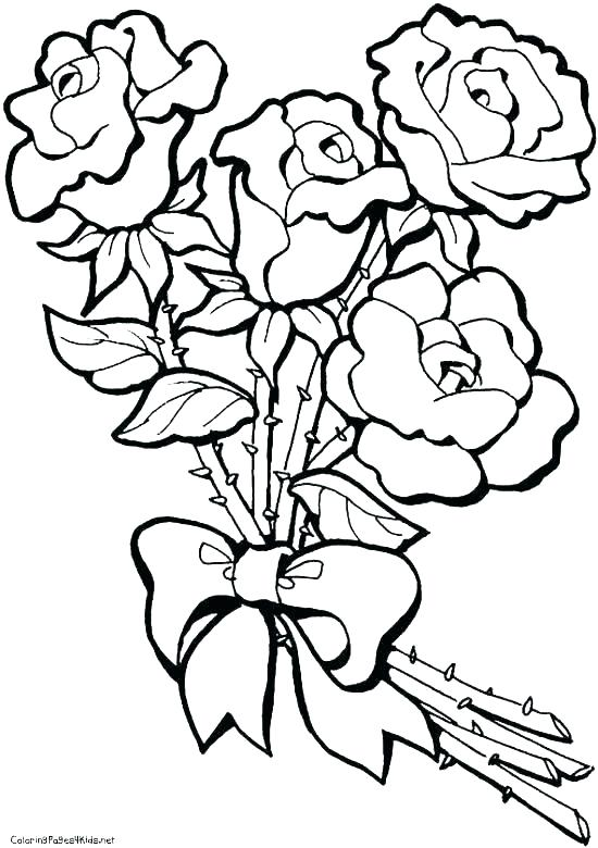 550x780 Single Flower Coloring Pages Free Single Wer Coloring Pages Color
