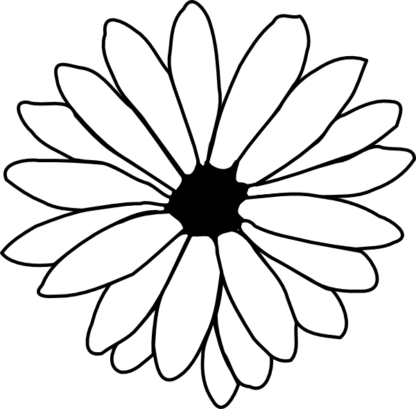 600x590 Single Flower Coloring Pages Hawaiian Flower Coloring Pages