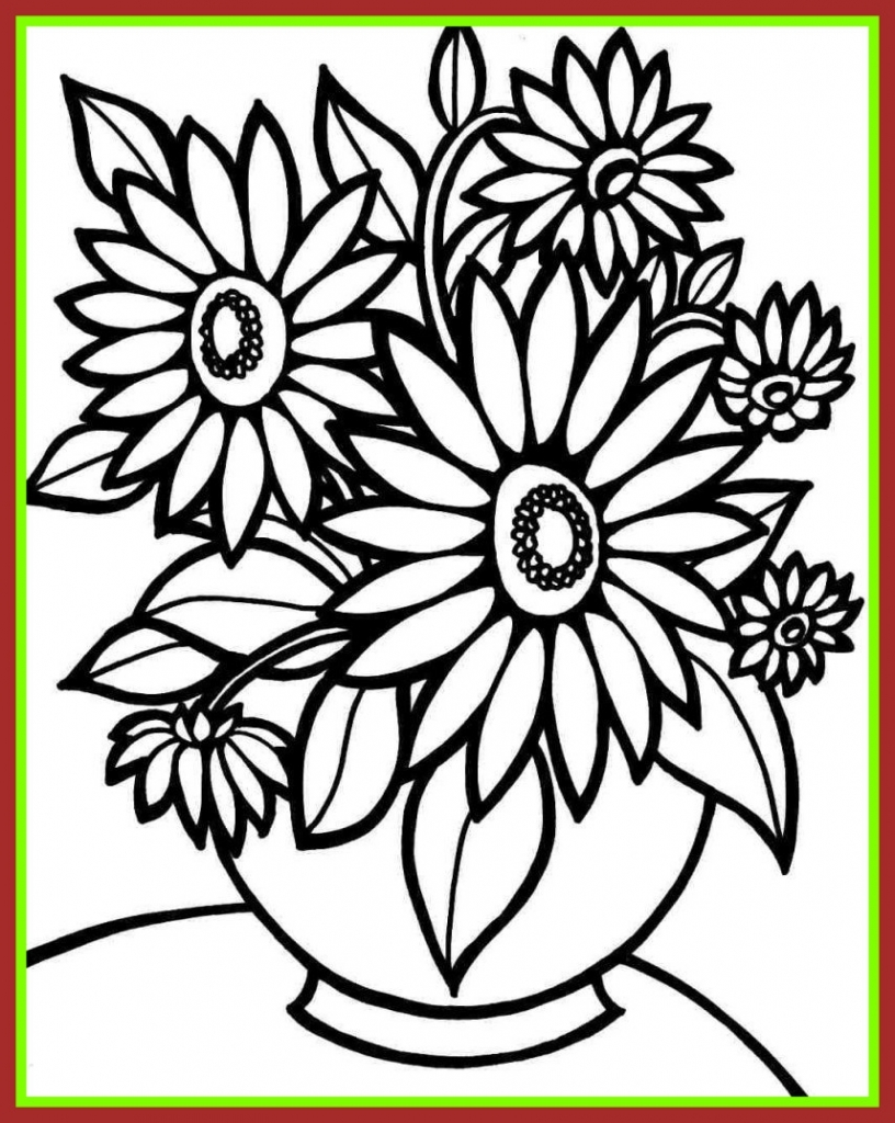 816x1024 Blank Flower Coloring Pages Funny Coloring Pages Regarding