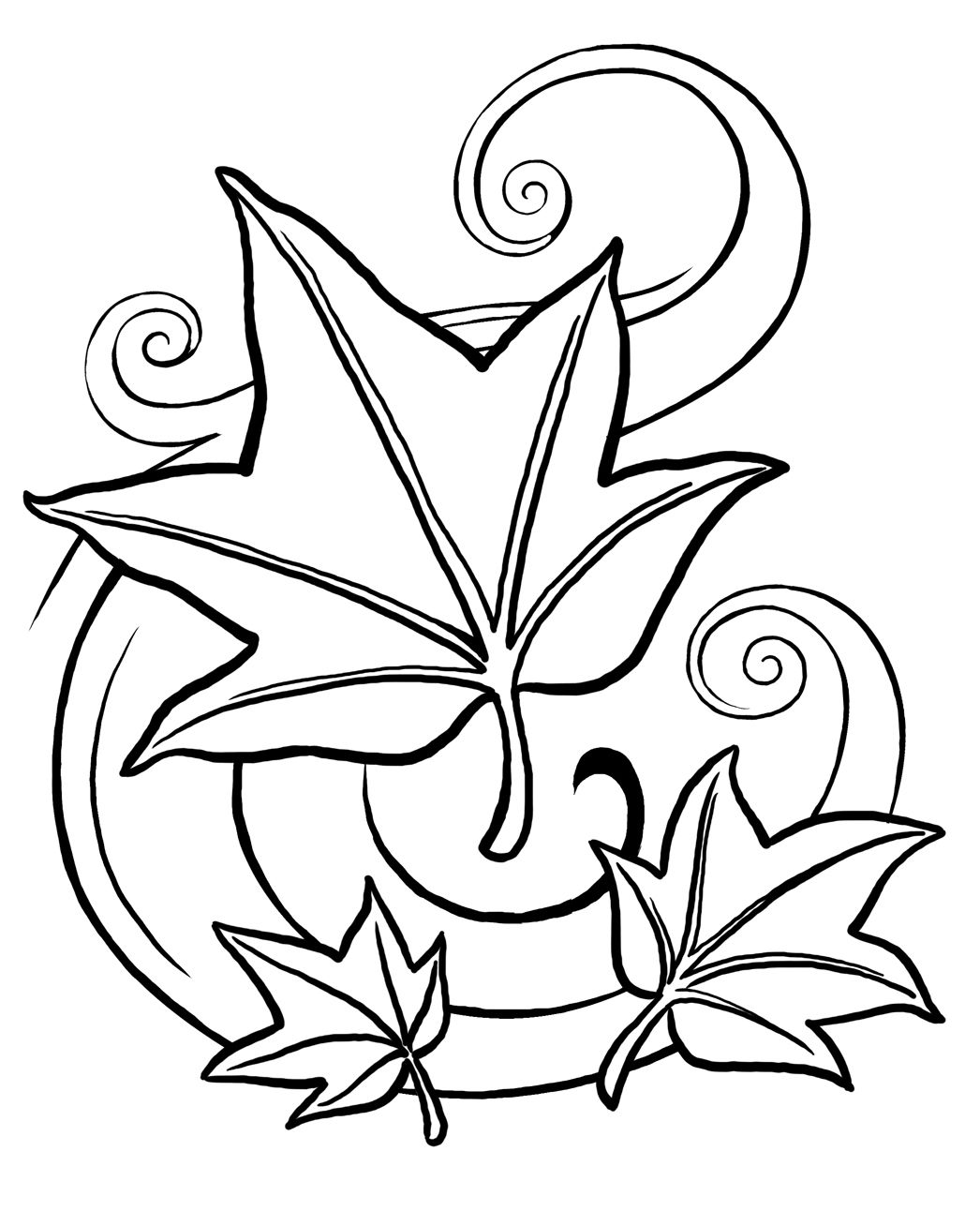 1046x1308 Stunning Printable Leaf Coloring Pages For Kids Pic Single Flower