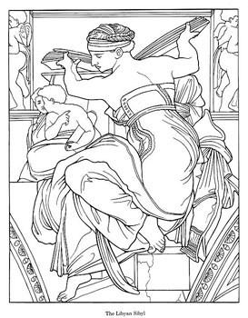 273x350 Michelangelo's Sistine Chapel Coloring Book Activity Pack