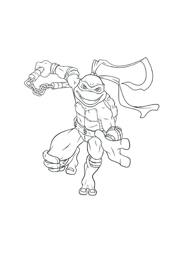 595x842 Michelangelo Coloring Page Coloring Pages Ninja Turtle Coloring