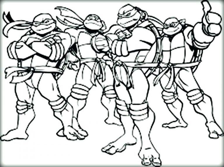 768x573 Ninja Turtle Coloring Pages Michelangelo New Cartoon Turtles Gang