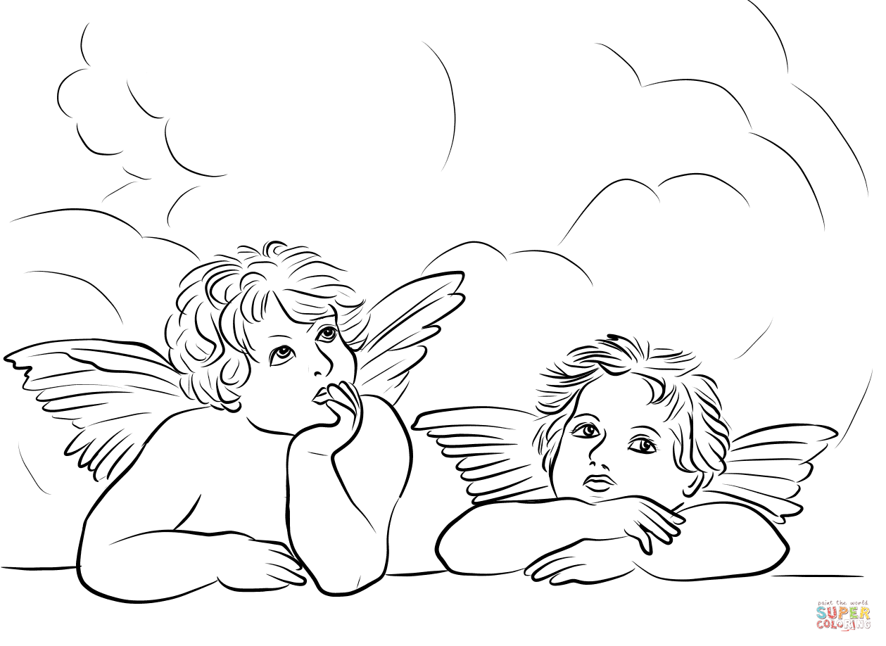 1259x918 Angels The Sistine Madonna