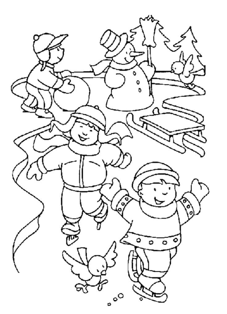 Skating Coloring Pages