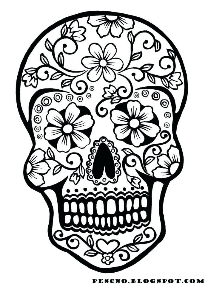 697x960 El Dia De Los Muertos Coloring Pages Para A Dia De Los Muertos