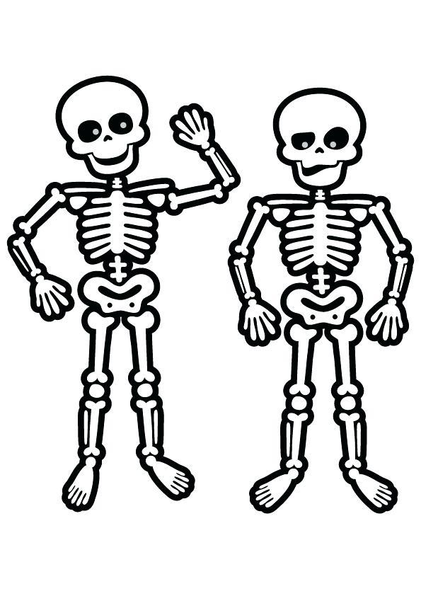 595x842 Skeleton Coloring Pages Drawn Skeleton Printable X Free Dinosaur
