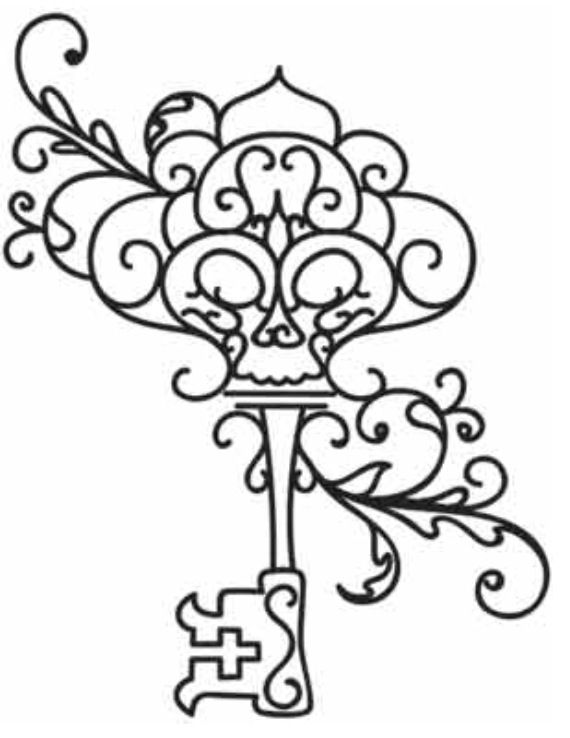Skeleton Key Coloring Page