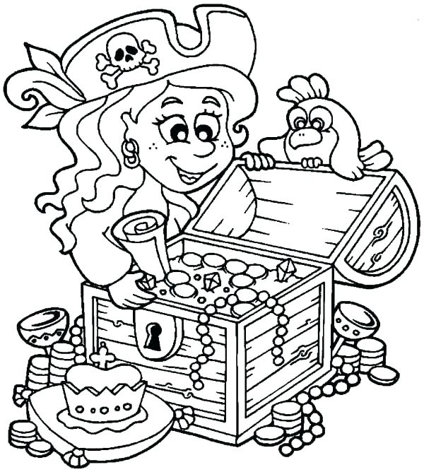 600x668 Pirate Color Page Pirate Ship Coloring Sheet Pirate Coloring Book