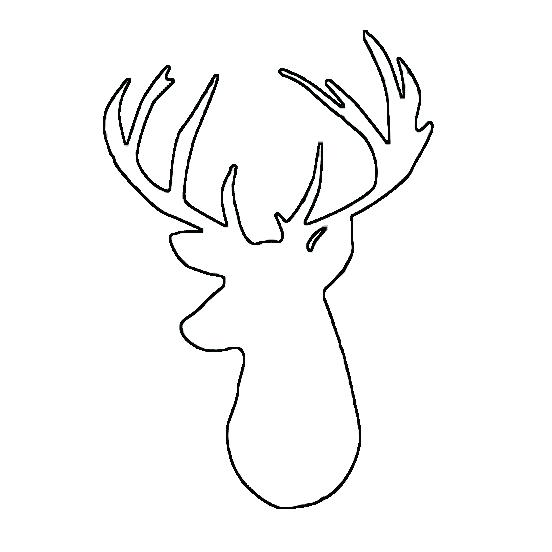 552x552 Deer Head Coloring Pages Deer Head Coloring Pages Deer Head
