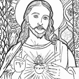 268x268 Jesus Face Coloring Page Sketch Coloring Page Coloring Page