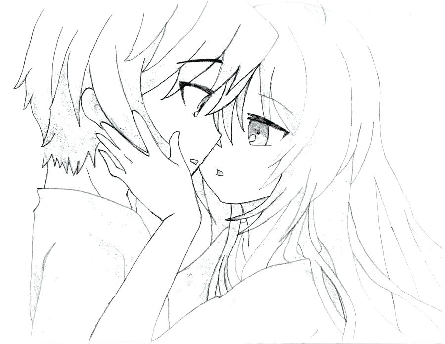 900x695 Wolf Color Pages Complete Anime Couple Coloring Pages Kids Sketch