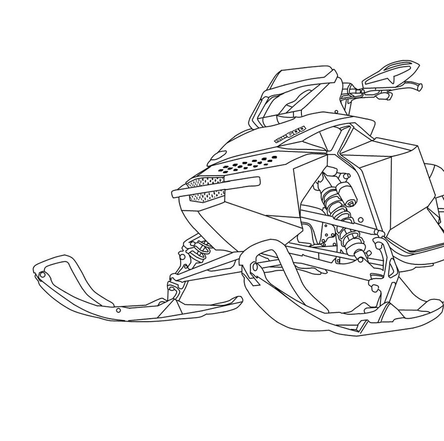 Ski Doo Coloring Pages