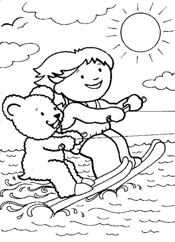 595x823 Kids N Coloring Pages Of Water Skiing