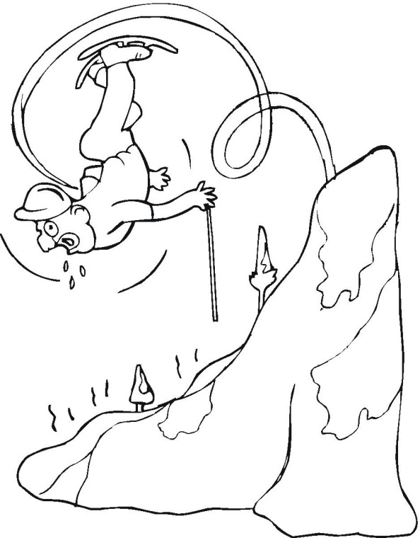 594x760 Skiing Coloring Page