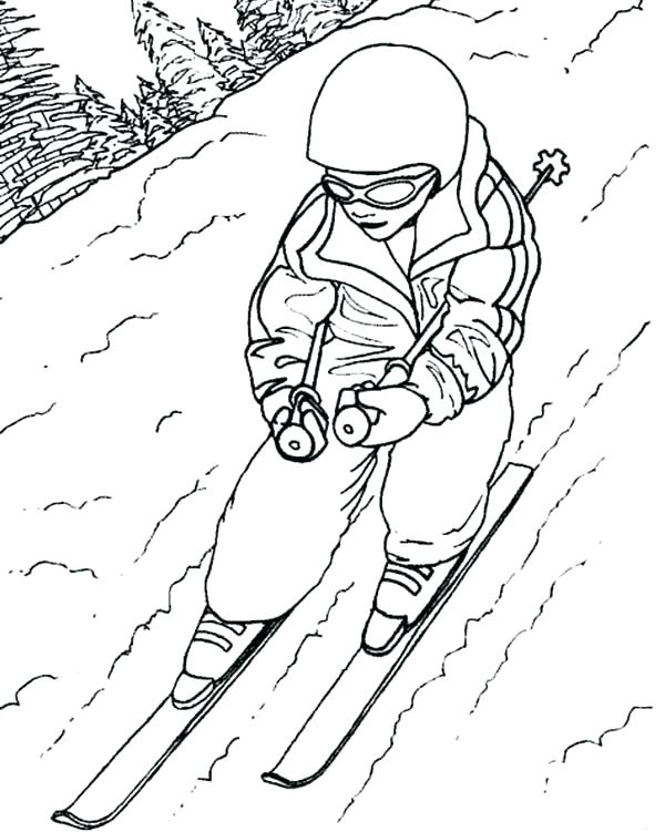 600x751 Skiing Coloring Pages Ski Coloring Sheet Skiing Coloring Pages I