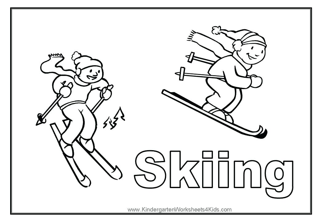 1040x720 Skiing Coloring Pages Skiing Coloring Page Ski Boat Colouring