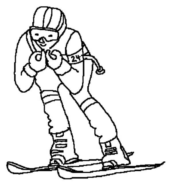 600x648 Skiing Coloring Pages Batch Coloring