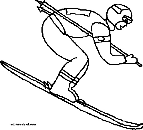 500x456 Skiing Coloring Pages Coloring Page Olympics Page Winter