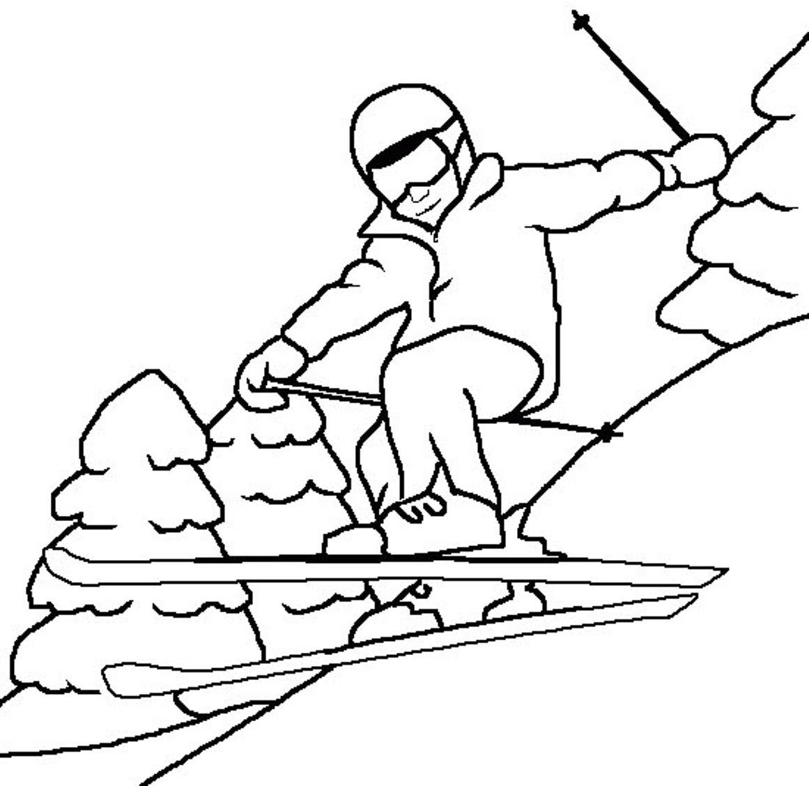 1161x1127 Winter Skiing Coloring Stitches Winter, Stitch