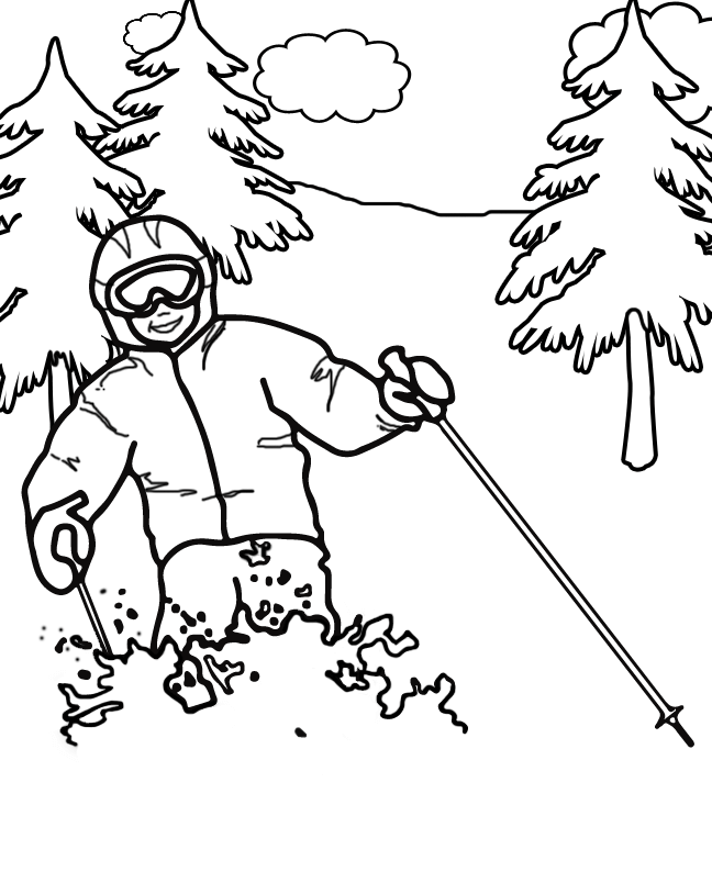 648x794 Free Printable Winter Olympics Coloring Pages