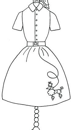 Skirt Coloring Pages