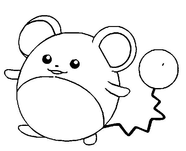 Skitty Coloring Pages