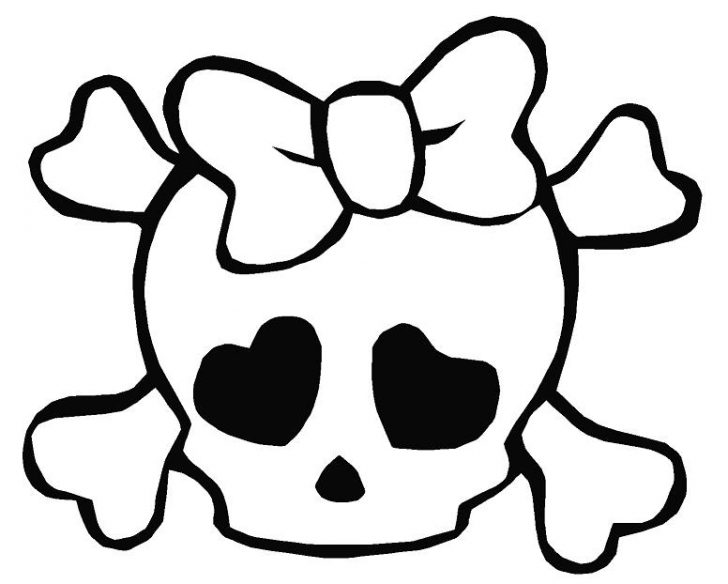 728x584 Skull And Bones Coloring Pages