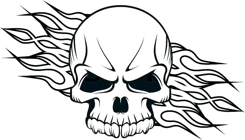 800x458 Skull And Bones Coloring Pages Of Skulls With Anatomy Human Flames