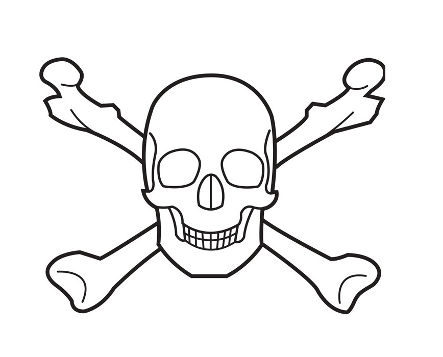 868x700 Skull And Crossbones Coloring Pages