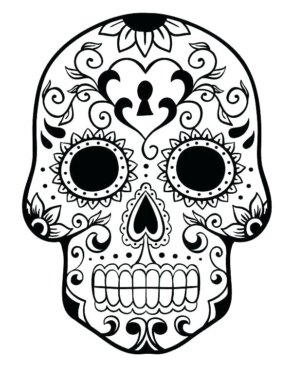 600x750 Skull Crossbones Coloring Pages Free Printable Skull