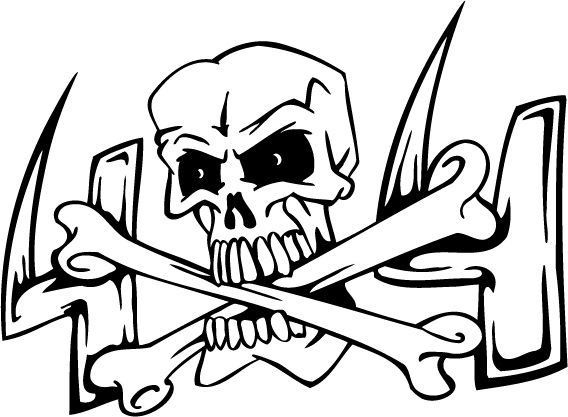 568x417 Skull And Cross Of Bones Coloring Pages