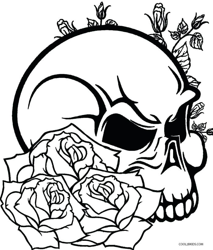 699x820 Coloring Pages Skulls Skull With Bones Coloring Pages Pirate Skull