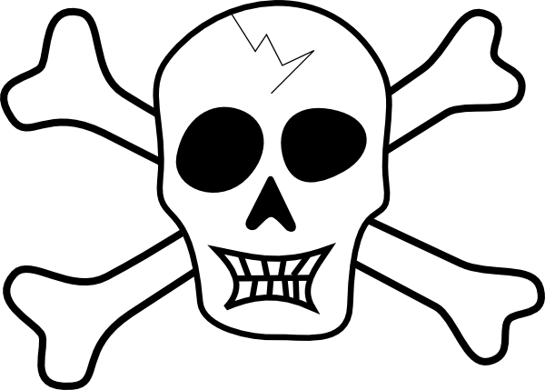 600x429 Pirate Ship Coloring Pages Printable Pirate Skull And Bones Clip