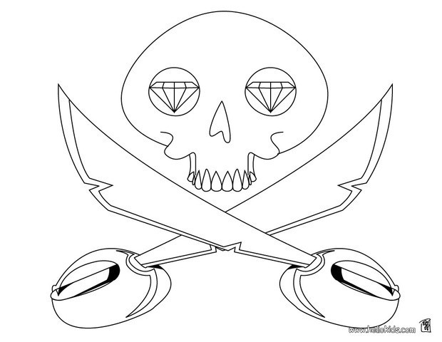 620x480 Pirate Skull And Crossbones Coloring Pages