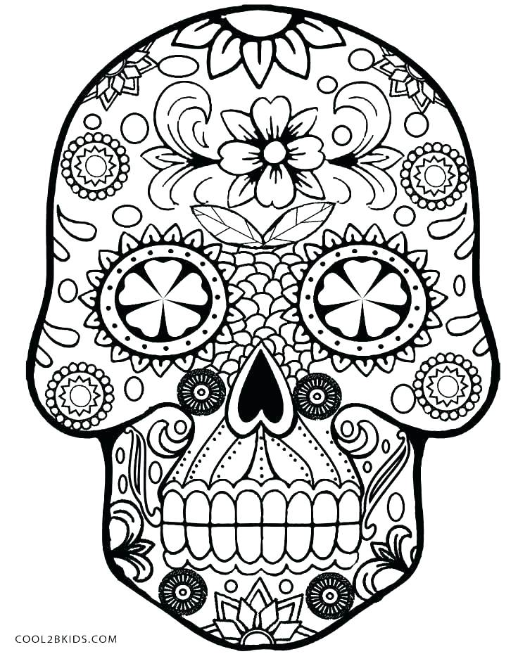 Skull And Crossbones Coloring Pages At Getdrawingscom Free For
