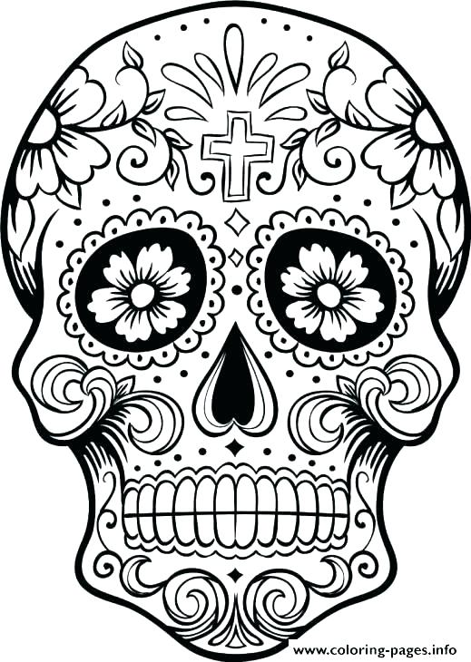 519x730 Skull And Crossbones Coloring Pages Bones Coloring Pages Skull